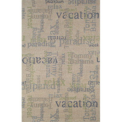 Trans-Ocean Import Co. Lido 2 x 8 Runner Scriptures Chalk 482511