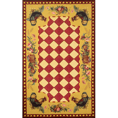 Trans-Ocean Import Co. Tuscany 5 x 8 Rooster Red 8022/24