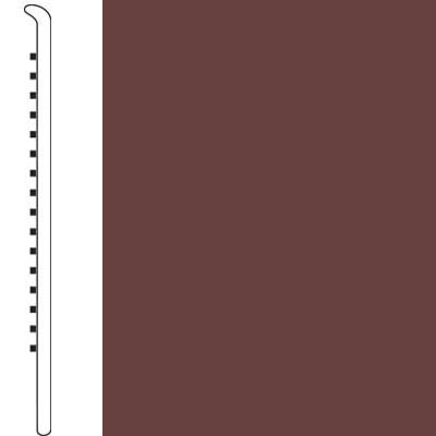 Forbo Wallbase Straight 4 Inch Rootbeer
