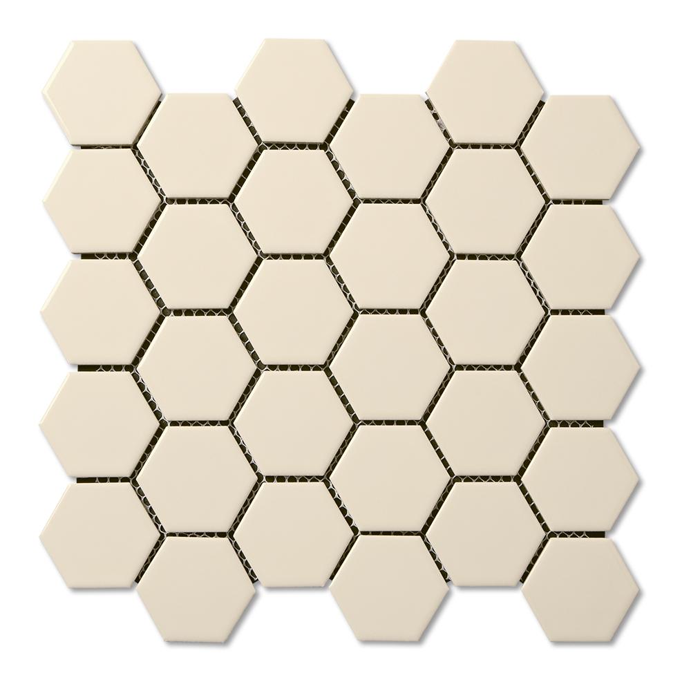 Adex Usa Coordinating Floor Porcelain Hexagon Mosaic