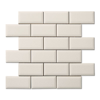Adex USA Hampton 2 x 4 Mosaic Beveled White ADHWH924