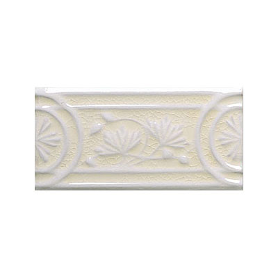 Adex USA Hampton Listello Flower 3 x 6 Bisque ADHBQ103