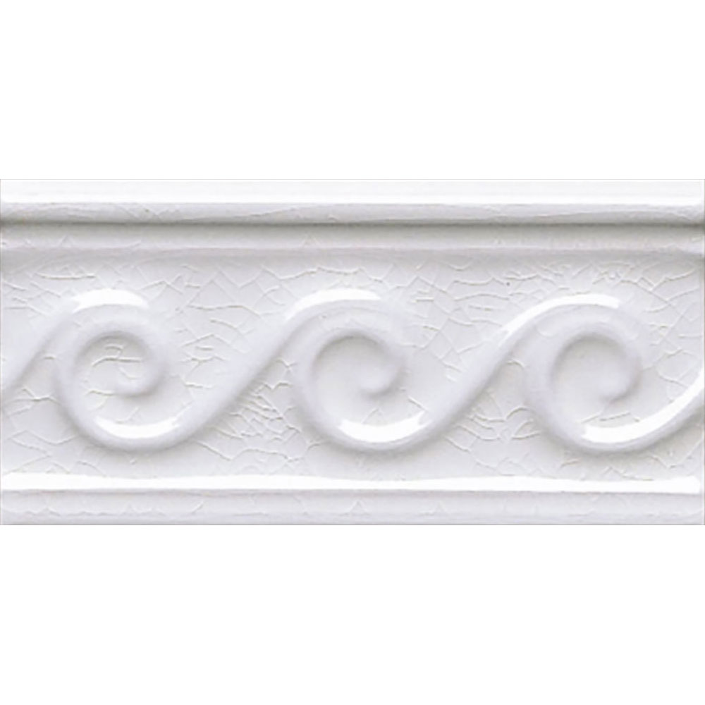 Adex USA Hampton Listello Waves 3 x 6 White