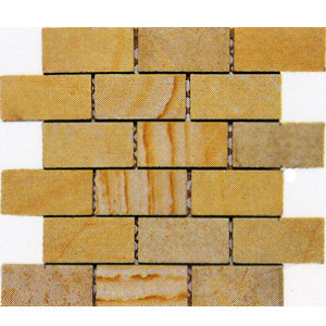 Alfagres Tumbled Marble Brick Patterns Gold Lime Stone MP30