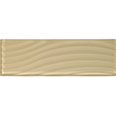 American Olean Color Appeal Abstracts Wavy Glass Tile 4 x 12 Cloud Cream