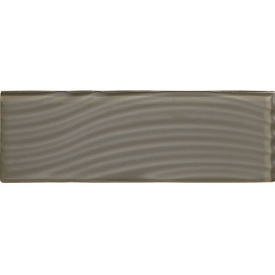 American Olean Color Appeal Abstracts Wavy Glass Tile 4 x 12 Mink