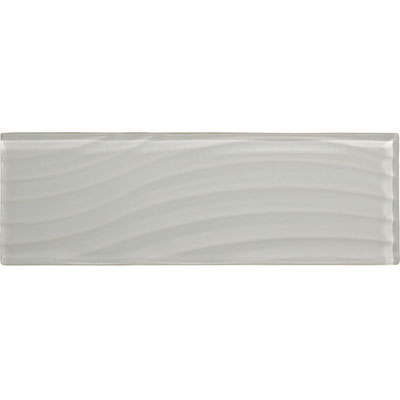 American Olean Color Appeal Abstracts Wavy Glass Tile 4 x 12 Pearl