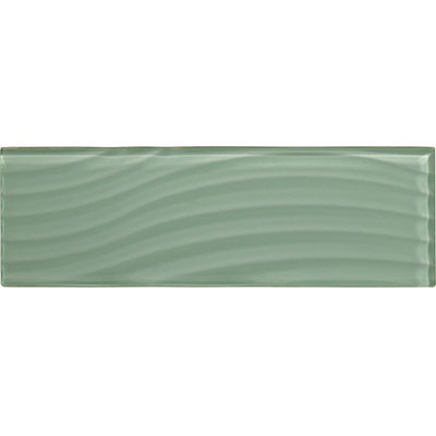 American Olean Color Appeal Abstracts Wavy Glass Tile 4 x 12 Vintage Mint