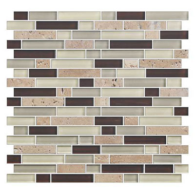 American Olean Color Appeal Glass Blends Random Mosaic 5/8 Canyon Trail