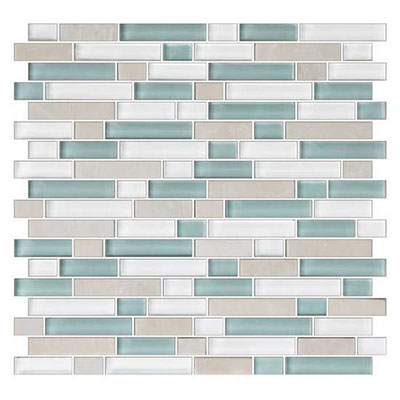 American Olean Color Appeal Glass Blends Random Mosaic 5/8 Pacific Coast
