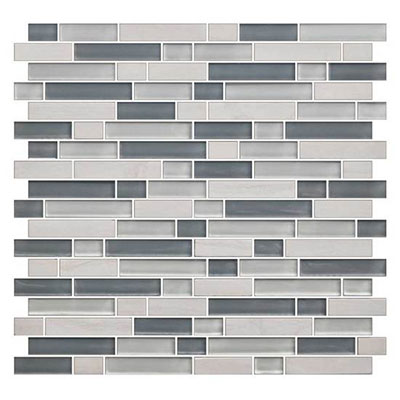 American Olean Color Appeal Glass Blends Random Mosaic 5/8 Sea Cliff