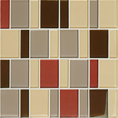 American Olean Color Appeal Renewal Block Random Glass Mosaic Earth Fire
