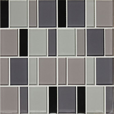 American Olean Color Appeal Renewal Block Random Glass Mosaic Midnight Sky