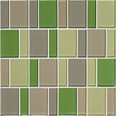 American Olean Color Appeal Renewal Block Random Glass Mosaic Willow Brook
