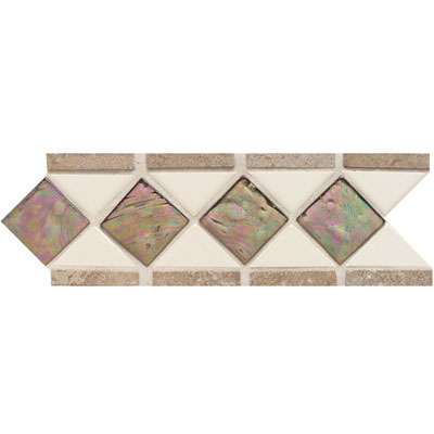 American Olean Designer Elegance Accents Opalescence Gloss Almond Smoky Topaz Mocha Accent Strip DE1274411LST1P2