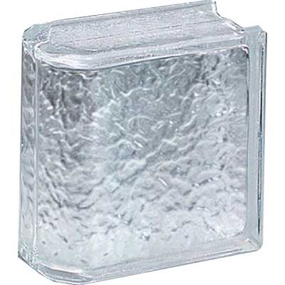 Daltile Glass Block Icescapes 8 x 8 Icescapes Endblock GB02884END1P