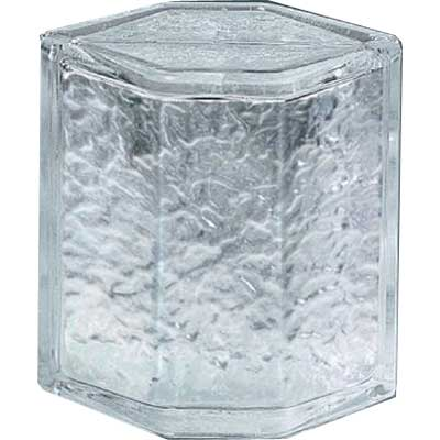 Daltile Glass Block Icescapes 8 Icescapes Hedron GB02 8HED1P