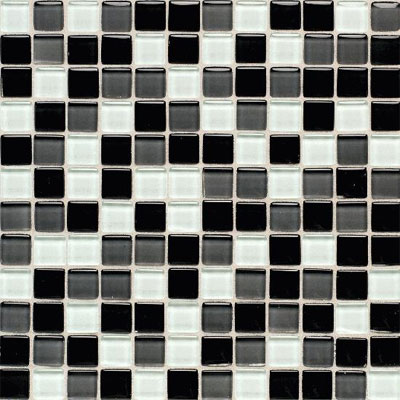 American Olean Legacy Glass Mosaic 1 x 1 Blends Black Blend LG2211MS1P