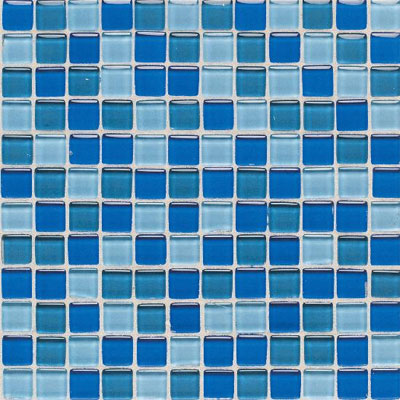 American Olean Legacy Glass Mosaic 1 x 1 Blends Blue Blend LG2011MS1P