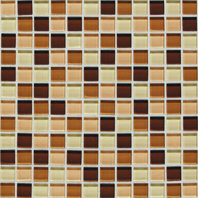 American Olean Legacy Glass Mosaic 1 x 1 Blends Desert Blend LG4011MS1P