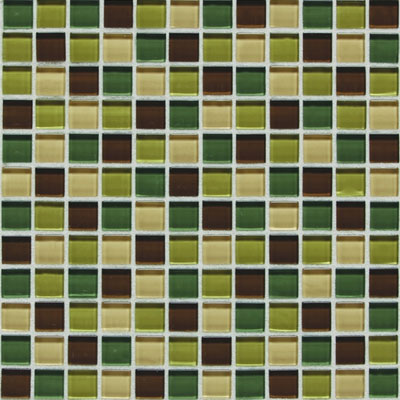 American Olean Legacy Glass Mosaic 1 x 1 Blends Earth Blend LG4111MS1P