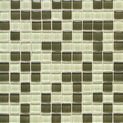 American Olean Legacy Glass Mosaic 1 x 1 Blends Green Blend LG2111MS1P