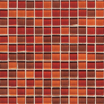 American Olean Legacy Glass Mosaic 1 x 1 Blends Red Blend LG2311MS1P