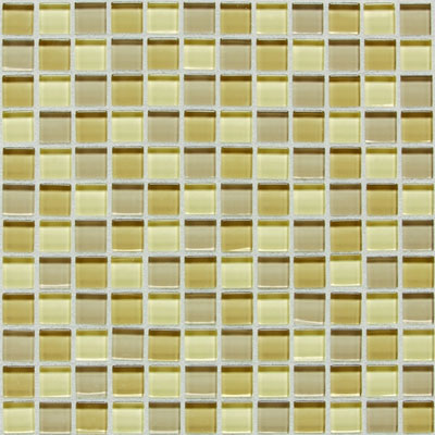 American Olean Legacy Glass Mosaic 1 x 1 Blends Sand Blend LG4311MS1P