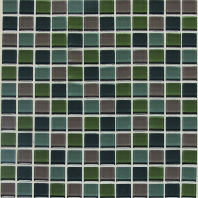 American Olean Legacy Glass Mosaic 1 x 1 Blends Smokey Blend LG4211MS1P