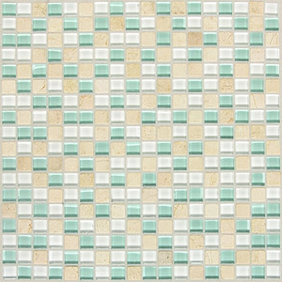 American Olean Legacy Glass Mosaic 5/8 x 5/8 Blends Arctic Blend LG455858MS1P