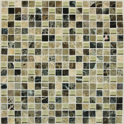 American Olean Legacy Glass Mosaic 5/8 x 5/8 Blends Tannery Blend LG465858MS1P