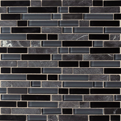American Olean Legacy Glass Mosaic 5/8 x Random Blends Mountain Blend LG48 58RANDMS1P