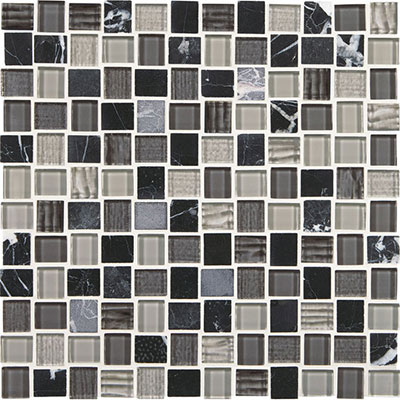 American Olean Marble Weave Offset Marble and Glass Mosaic Colosseum Nights