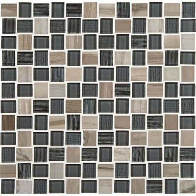 American Olean Marble Weave Offset Marble and Glass Mosaic Stonehenge