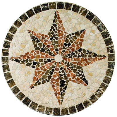 American Olean Medallions Northern Star Tumbled 32 Round Northern Star