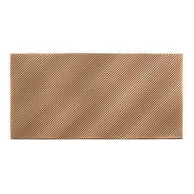American Olean Refined Metals 2 x 8 Linear Wave Bronze