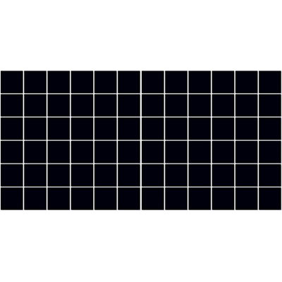American Olean Satinbrites Glazed Ceramic 2 x 2 Black