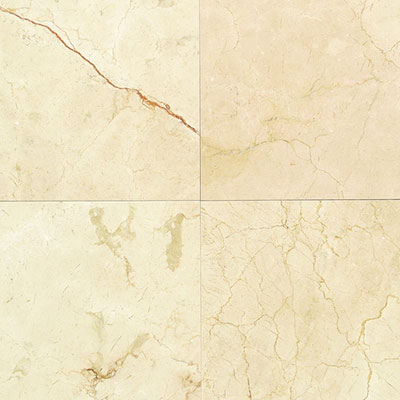 American Olean Stone Source Marble and Onyx 12 x 12 Polished Crema Marfil Classico