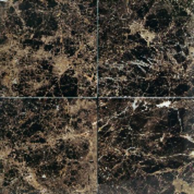 American Olean Stone Source Marble and Onyx 12 x 12 Polished Emperador Dark