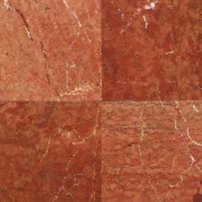 American Olean Stone Source Marble and Onyx 12 x 12 Polished Rojo Alicante