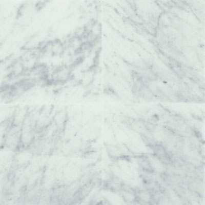 American Olean Stone Source Marble and Onyx 3 x 6 Polished Carrara White