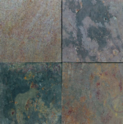 American Olean Stone Source Slate 12 x 12 Indian Multicolor