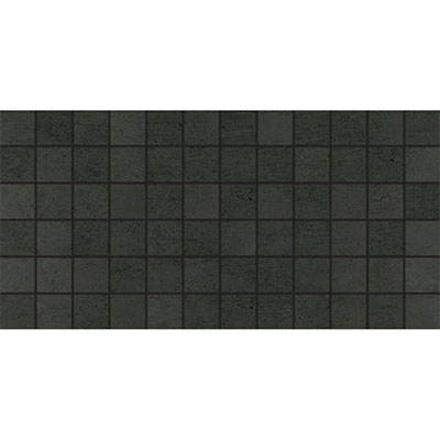 American Olean Theoretical Mosaic 2 x 2 Abstract Black