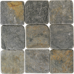 American Olean Tumbled Slate 4 x 4 China Multicolor TU70441P