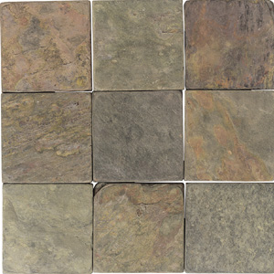 American Olean Tumbled Slate 6 x 6 India Multicolor TS70 661P