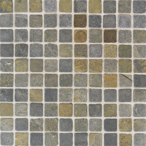 American Olean Tumbled Slate Mosaic 1 x 1 China Multicolor TU7011MS1P