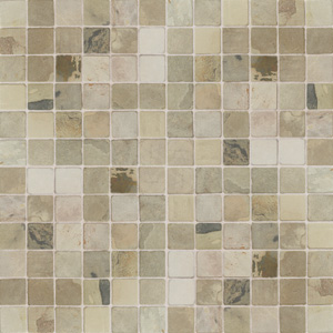 American Olean Tumbled Slate Mosaic 1 x 1 India Autumn TS71 11MS1P