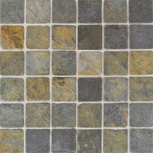 American Olean Tumbled Slate Mosaic 2 x 2 China Multicolor TU7022MS1P