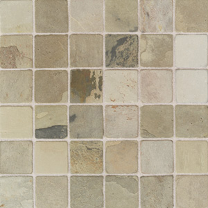 American Olean Tumbled Slate Mosaic 2 x 2 India Autumn TU7322MS1P