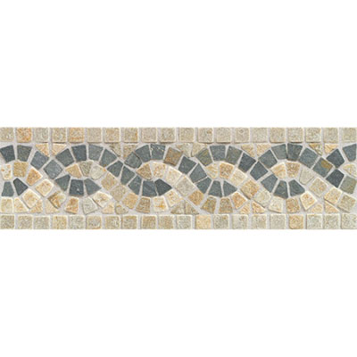 American Olean Tumbled Stone Accents Mosaic Serpentine Border